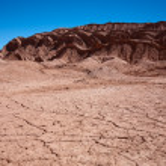 Waterless landscape in Moon Valley, desert Atacama, Chile — Stock Photo #4600801