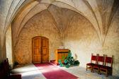 Hall for wedding ceremony in castle Karlstejn, Czech Republic — Stock Photo