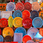 Earthenware in tunisian market — Stock Photo