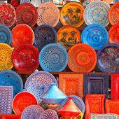Earthenware in tunisian market — Stock Photo