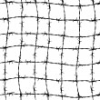 Fence from barbed wires — Stock Photo