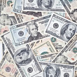 Dollar banknotes background — Stock Photo #5118158