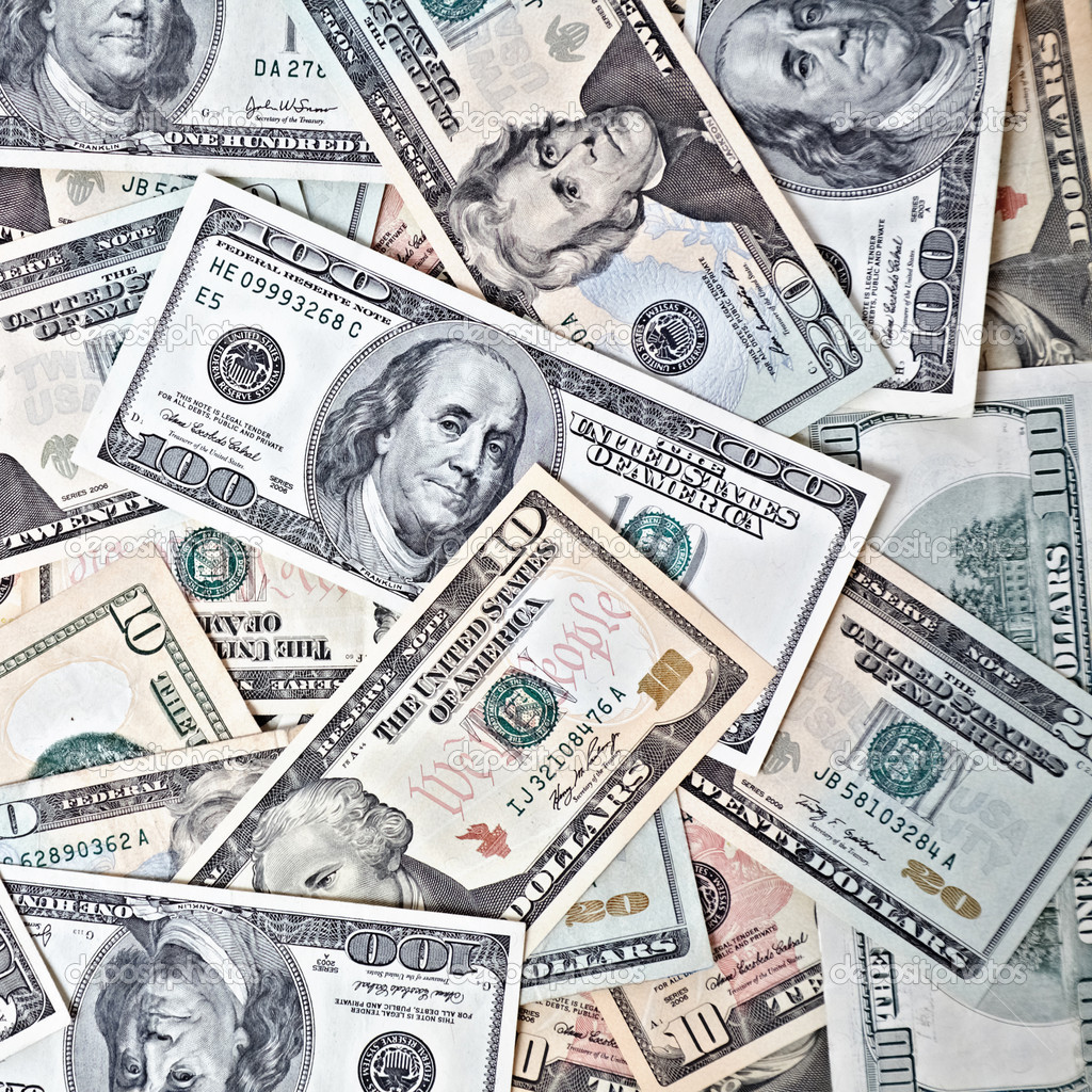 Dollar banknotes background — Stock Photo #5118076