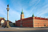 Warsaws - Royal Castle and Sigismund's Column — Stock Photo