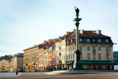 Warsaw - Sigismund's Column on Castle Square — Stock Photo