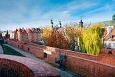 Avamposto medievale fortificato - Barbacane di Varsavia — Foto Stock