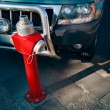 Fire hydrant parking — Stock Photo