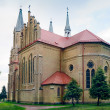 Neo-Gothic Saint Anne Church in Krynki / Poland — Stock Photo