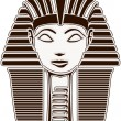 sphinx head - pharaoh hatshepsut face — Stock Photo