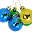 Christmas tree balls isolated on a white background — Stok fotoğraf