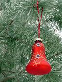 Snow-ball on the street tree — Stock Photo