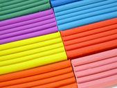 Dětské barevné modelování hlíny. Pozadí — Stock fotografie