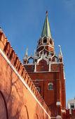 Troitskaya Tower and the Trinity Bridge Kremlin. Russia — Stock Photo