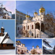 Stock Photo: Orthodox churches, collage