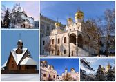 Orthodox churches, collage — Stock Photo