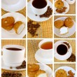 Stock Photo: Teand coffee, collage