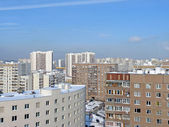Urban landscape. Moscow dormitory — Stock Photo