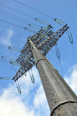 Modern power line. Energy issues — Foto Stock