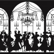 Victorian party — Stock Vector
