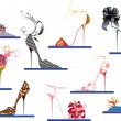 Vector de stock : Shoes high heels