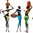 Beautiful african women - Stock Vector