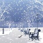 Winter park — Stock Vector