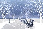 Зимний парк — Cтоковый вектор