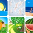 Summer collection icons — Stock Vector #4965373