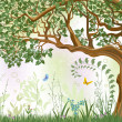 Royalty-Free Stock Vector Image: Oak tree