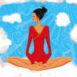 Royalty-Free Stock Vektorgrafik: Meditation