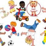 少年儿童 — 图库矢量图片