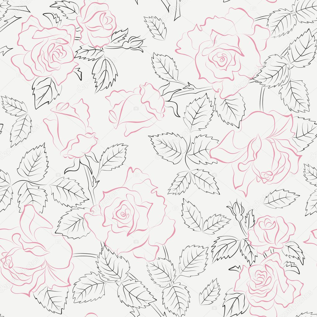 Floral seamless pattern with roses — Stock Vector #5048180