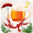 Mug of beer - Stock Vector