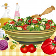 greek salad&quot — Stock Vector