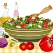 Greek salad - Stock Vector