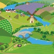 Countryside — Vector de stock