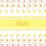 Baby card vector — Stock Vector
