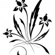 Vector black a white flower pattern — Stock Vector #4261829