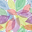 Seamless abstract color leaves pattern - Stock Vector
