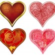Vector set of stylized Hearts — Stock Vector