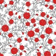 Romantic seamless rose flower pattern — Vector de stock  #4874377