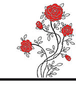 Romantic background with red roses. — Stock Vector
