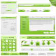 Website elements - Stock Vector