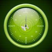 緑スポーツ時計 — ストックベクタ