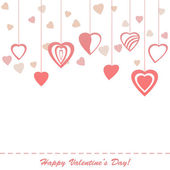 Valentine's greeting card — Stock Vector