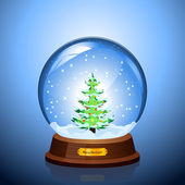 Christmas Snow globe — Stock Vector