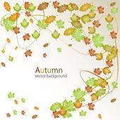 Autumn vector background — Stock Vector