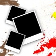 Blank photo frame with Splash of water colors — Stock Photo #3940780