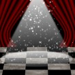 Stock Photo: Red movie or theatre curtain