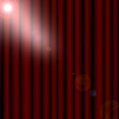 Red drapes curtain — Stock Photo